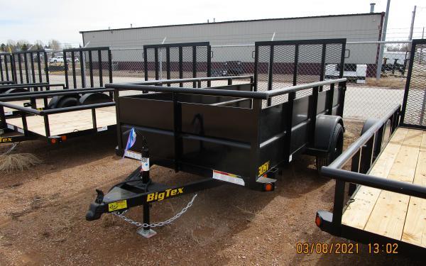 "Big Tex 30SV 60"" x 10 Single Axle Vanguard Trailer"