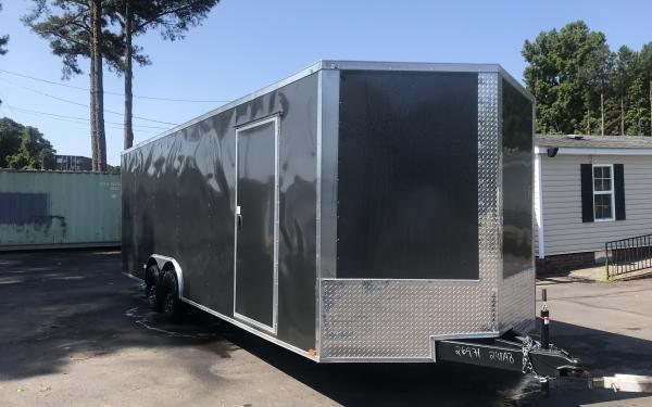 8.5x24 Enclosed Trailer- Charcoal heavy duty axles