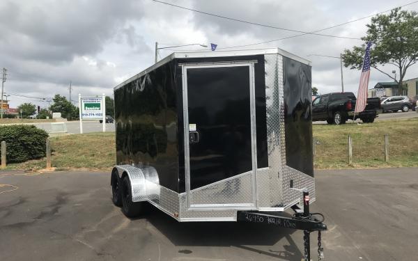 7X12 Vision Tandem Axle Enclosed Trailer Black