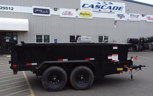 BigTex B 10SR-12XLBK7SIR  Dump Trailer Black w/ 7' Slide in Ramps