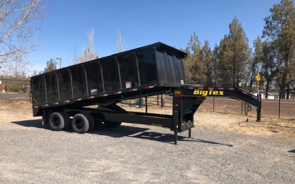 Big Tex E 25DU-20BK8SIR Tandem Dual Gooseneck Dump Trailer