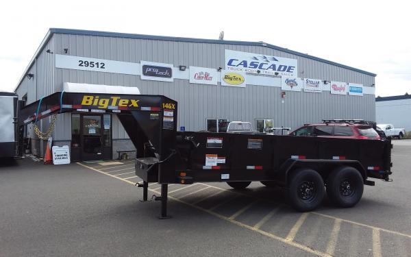 Big Tex E 14GX-14BK6SIR Heavy Duty Tandem Axle Extra Wide Gooseneck Dump Trailer