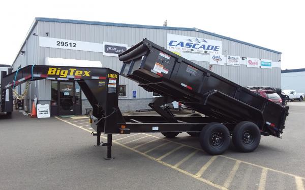 Big Tex B 14GX-14BK6SIR Heavy Duty Tandem Axle Extra Wide Gooseneck Dump Trailer