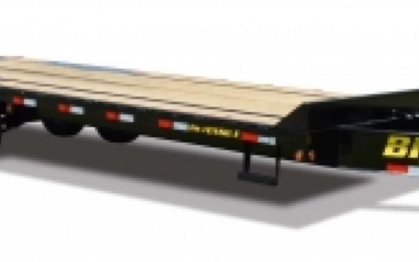 14PH-20BK+5 Big Tex Pintle Hook Tandem Axle Trailer