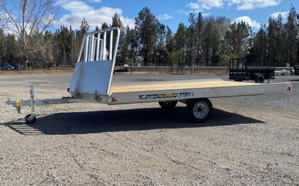 Aluma B 8612D-S-R-12SL Snowmobile Trailer With Drive Off Stone Guard