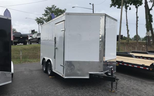 8.5x12 Enclosed Trailer - White