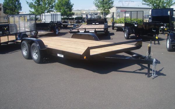 Eagle B E4FB716TA2 7K Tandem Axle Flatbed Trailer