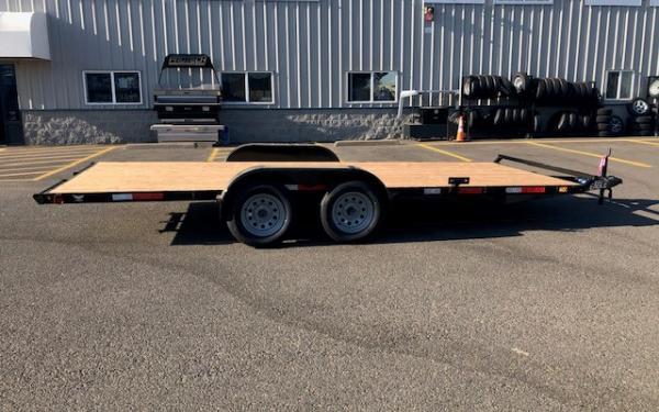 Eagle E E4FB718TA2 7K Tandem Axle Flatbed Trailer