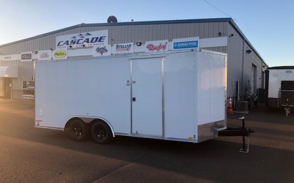 CargoMate E EHW8518TA2 (8.5' x 18') Tandem Axle Enclosed V Nose Race Trailer