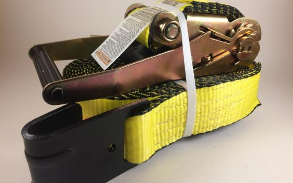 "2"" x 30' Yellow Flatbed Tie Down with Large Ratchet"