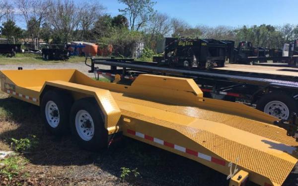 "79.5""x20' Midsota Nova Scissor Lift Tilt Bed Trailer Yellow"