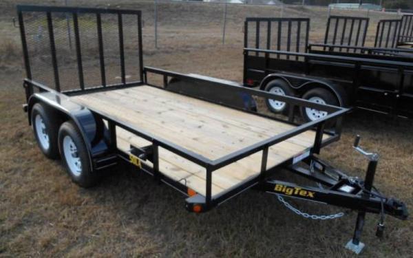 "50LA-77"" x 14 Tandem Axle Angle Iron Utility Trailer"