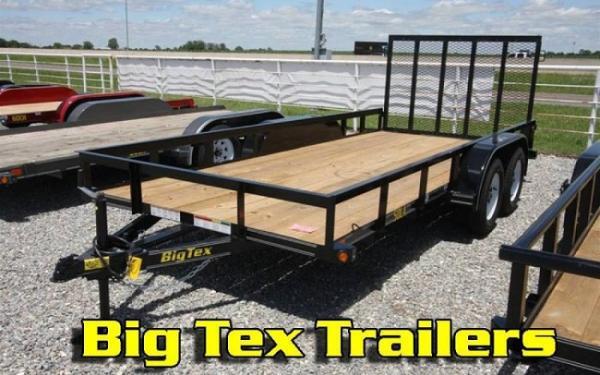 Big Tex 50LA- 14 Tandem Axle Angle Iron Utility Trailer