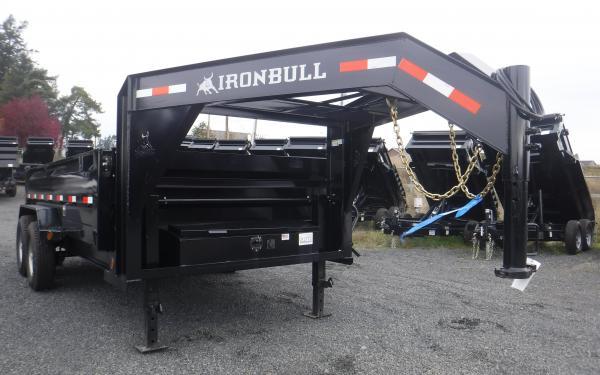 7x16 Ironbull Gooseneck Dump Trailer 14k