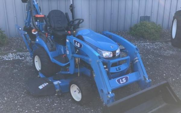 LS MT125 Tractor w/ mower and backhoe