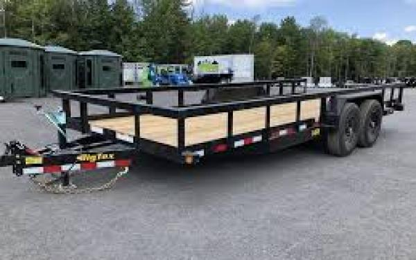 "14PI-83"" x 20 HD Tandem Axle Pipe Top Utility Trailer"