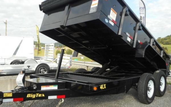 Big Tex 14LX 14,000#,TA,LX DUMP,(83 x 14) 7 Ramps, Combo Gate,LED,P-DN