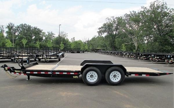 "Big Tex 14TL-83"" x 22 (16 + 6) Heavy Duty Tilt Bed Trailer"