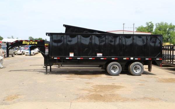 18' Big Tex Tandem Dual Axle Gooseneck Dump 25DU-20