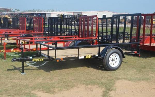 Big Tex Single Axle Utility Trailer 30SA-8
