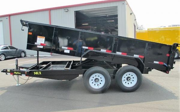 Big Tex 14LX DUMP,(83 x 14) 7 Ramps, Combo Gate,LED,P-DN