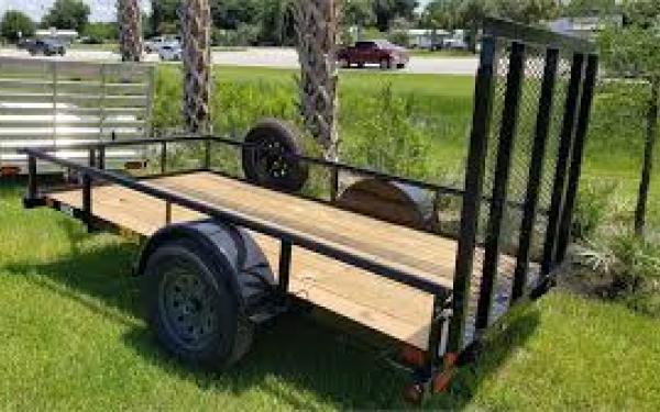 "Big Tex 30SA-60"" x 10 Single Axle Utility Trailer"