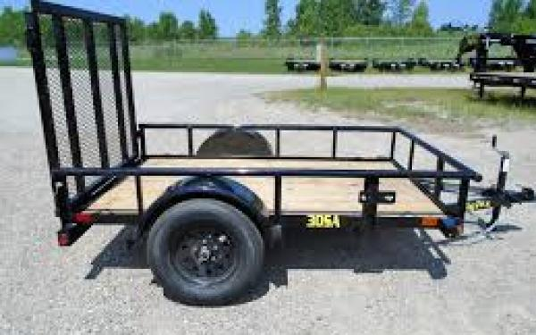 "Big Tex 30SA-60"" x 08 Single Axle Utility Trailer"