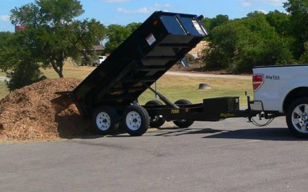 10' x 5' Tandem Axle, Single Ram Dump