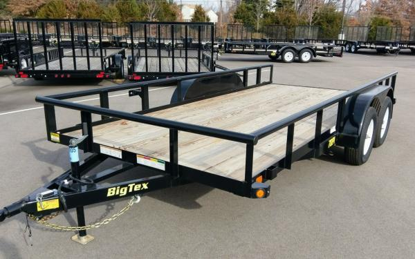 "70PI-83"" x 18 Tandem Axle Pipe Top Utility Trailer"