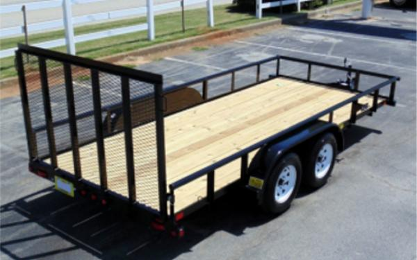 """45SS-77"""" x 16 Economy Tandem Axle Pipe Top Utility Trailer"""