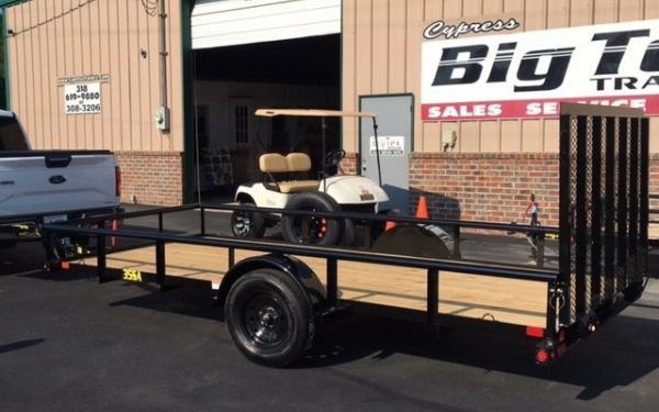 Big Tex 35SA -12  Black,Spare mount,4 Rampgate