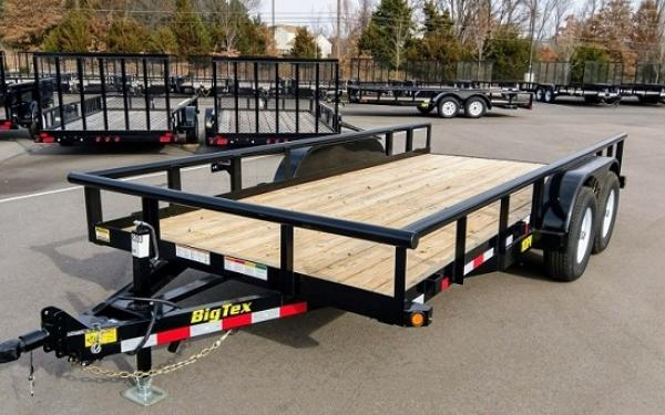 """10PI-83"""" x 16 Pro Series Tandem Axle Pipe Top Utility Trailer"""