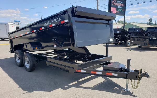 "7x16 Ironbull 36"" Hi-Sides Dump Trailer 14k"