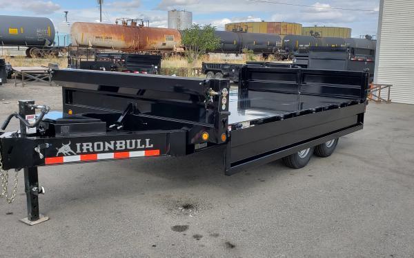 8x14 Ironbull Deck-Over Dump Trailer 14k