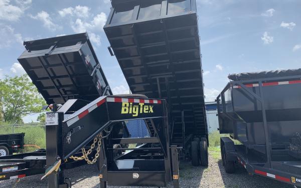 BIG TEX 25DU-8X20 DUMP W/4SIDES Black,8 Slide in Ramps