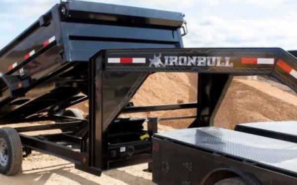 """7x16 Ironbull Gooseneck 36"""" Hi-Sides Dump Trailer 21k"""