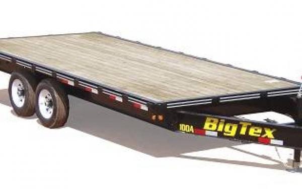 20' Big Tex Tandem Axle Over The Axle Trailer