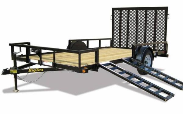 12' Big Tex ATV Trailer With Side Load
