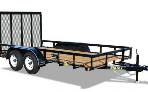 """Big Tex 77""""x14' Tandem Axle Utility Trailer"""