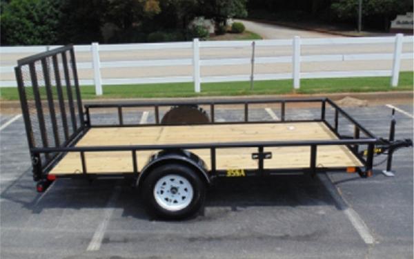 "Big Tex 35SA 77"" Wide Single Axle Utility"