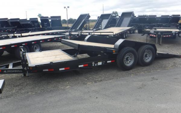 Ironbull 7x18 16/2 Split Deck Equipment Trailer 14k
