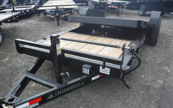 Ironbull 7x22 16/6 Split Deck Equipment Trailer 14k