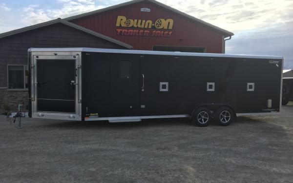 2021 Legend 29' Trackmaster 4-5-place enclosed inline snowmobile trailer Black Out Edition