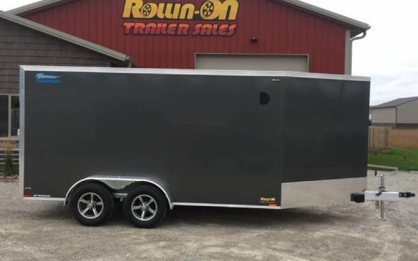 "2021 Legend 19' All-Aluminum 2-place Enclosed In-Line Snowmobile/ATV Trailer ""Thunder"""
