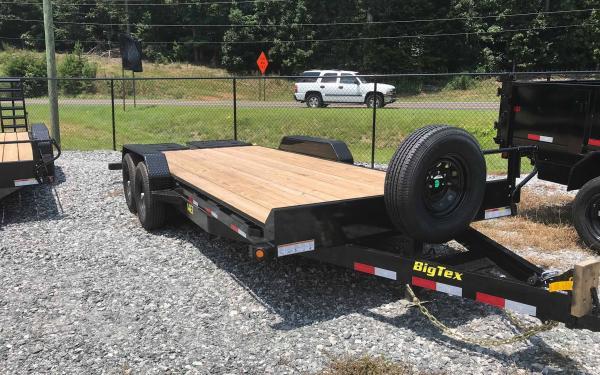 """Big Tex 83"""" X 20' 14K BUMPER PULL W/Mega Ramps"""