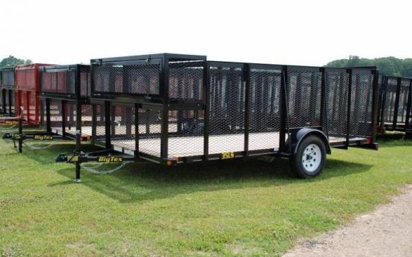 12' Big Tex Single Axle Landscape Trailer