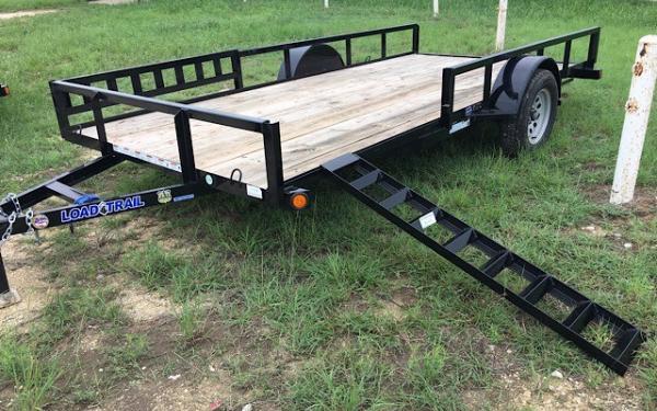 """2019 - 77"""" x 14' Single Axle W/side rail ramps"""