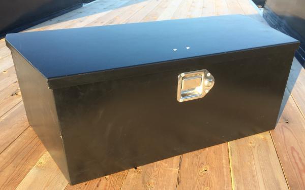 Black Locking Steel Tongue Box