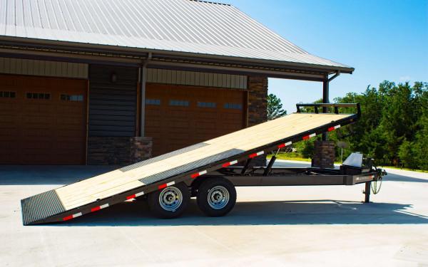 Ironbull 8.5 Deck-Over Power Tilt Equipment Trailer 14k (22' 24' 26')