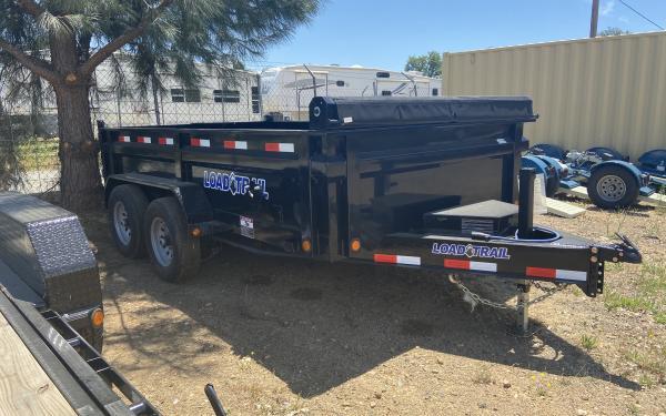 Load Trail 7'x12' Tandem Axle Dump Trailer in STOCK  8 lug